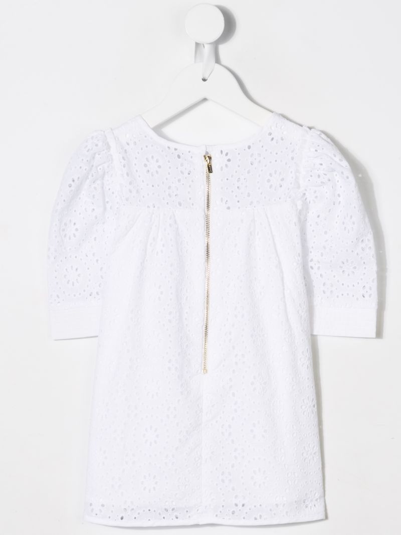 CHLOÈ KIDS: broderie anglaise blouse Color White_2