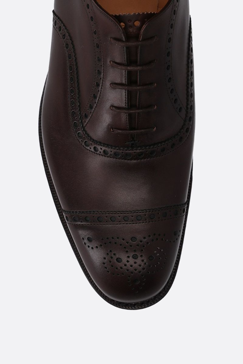 CHURCH'S: Diplomat oxford shoes in Nevada leather Color Brown_4