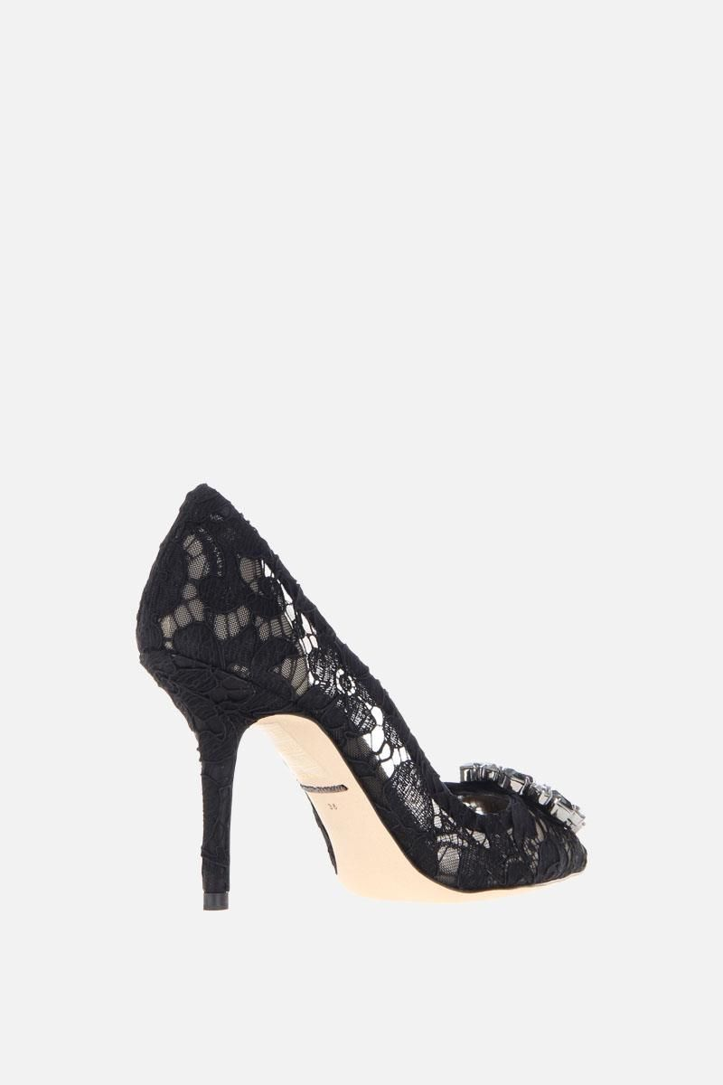 DOLCE & GABBANA: Bellucci pumps in Taormina lace with crystals Color Black_3