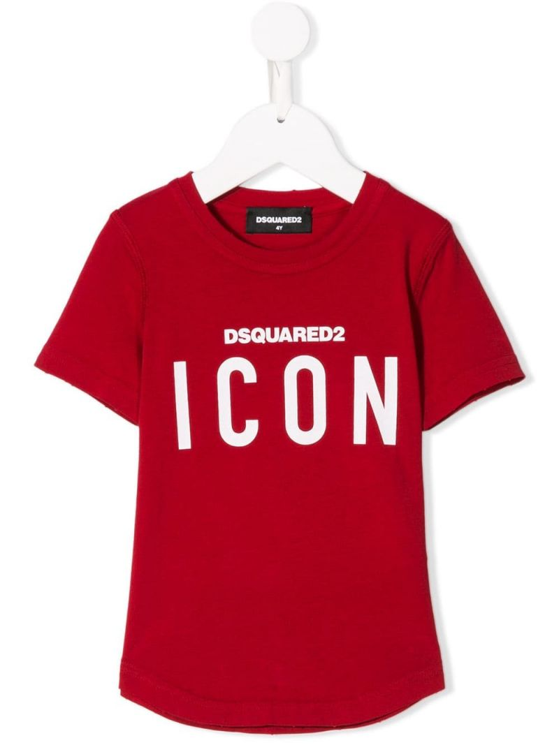 DSQUARED2 KIDS: Icon jersey t-shirt Color Red_1