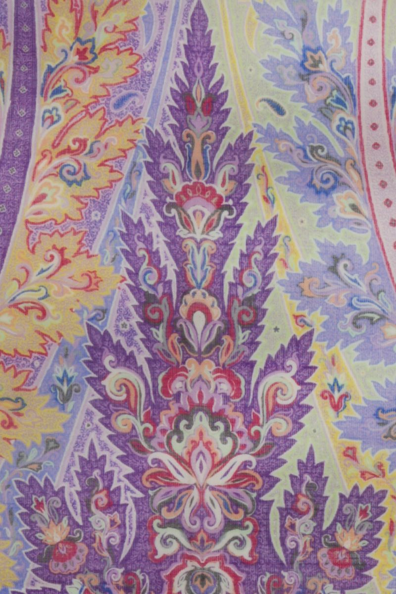 ETRO: Paisley-motif wool silk blend scarf Color Multicolor_3