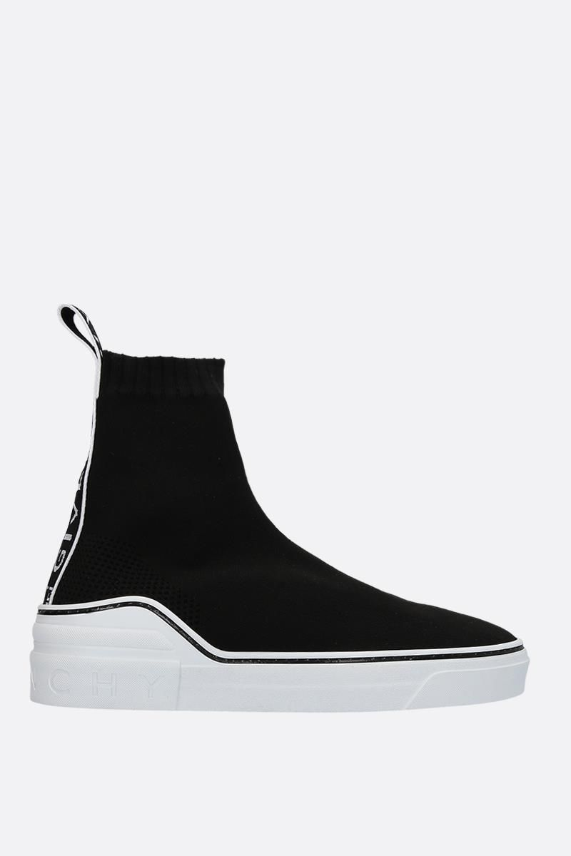 GIVENCHY: George V stretch knit sneakers Color Black_1