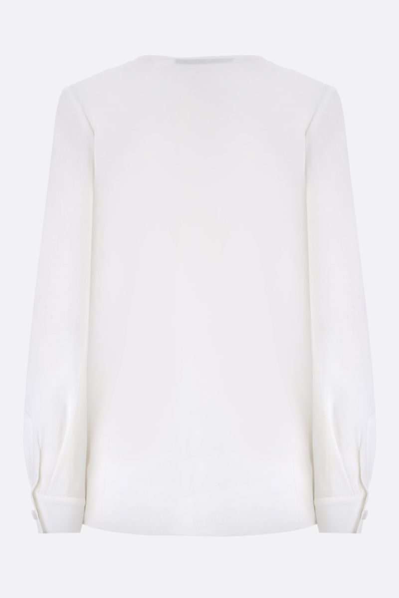 GIVENCHY: crepe de chine blouse with contrasting lapels Color White_2