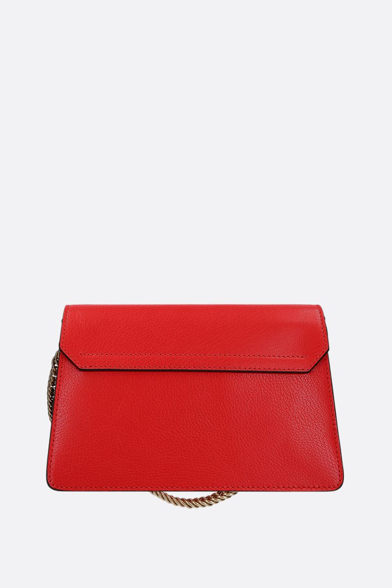 GIVENCHY: small GV3 handbag bag in leather and suede Color Brown_3