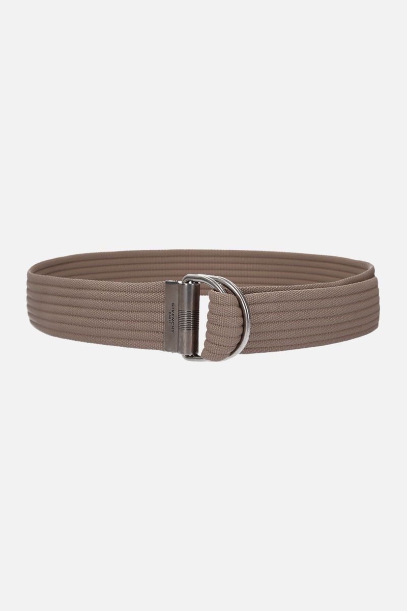 GIVENCHY: D-ring belt in canvas Color Neutral_1