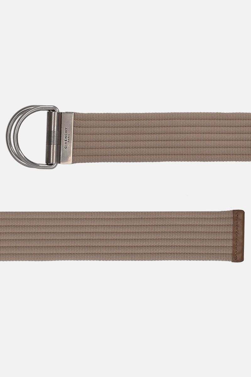 GIVENCHY: D-ring belt in canvas Color Neutral_2