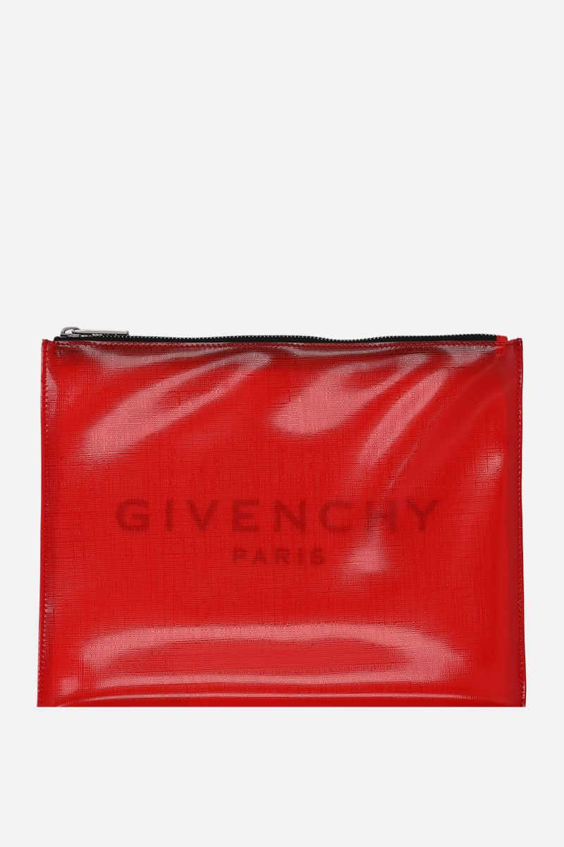 GIVENCHY: logo print PVC pouch Color Red_1