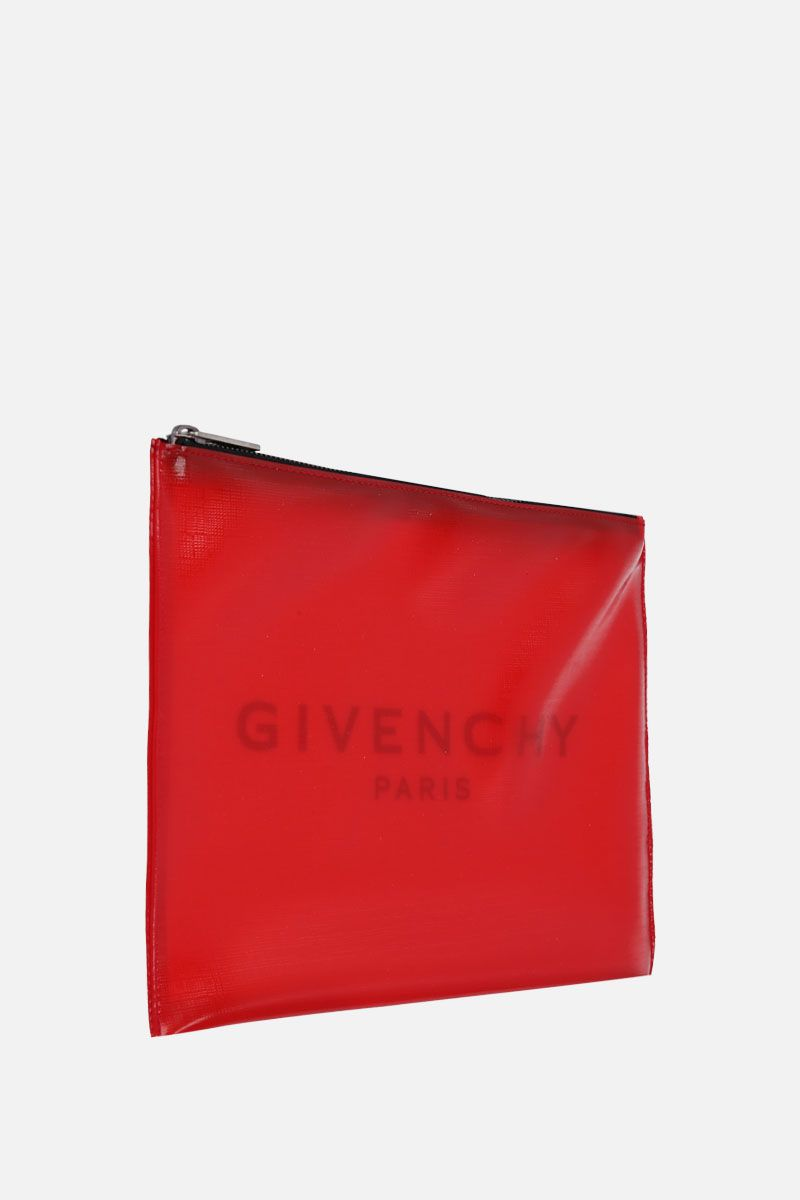 GIVENCHY: logo print PVC pouch Color Red_2