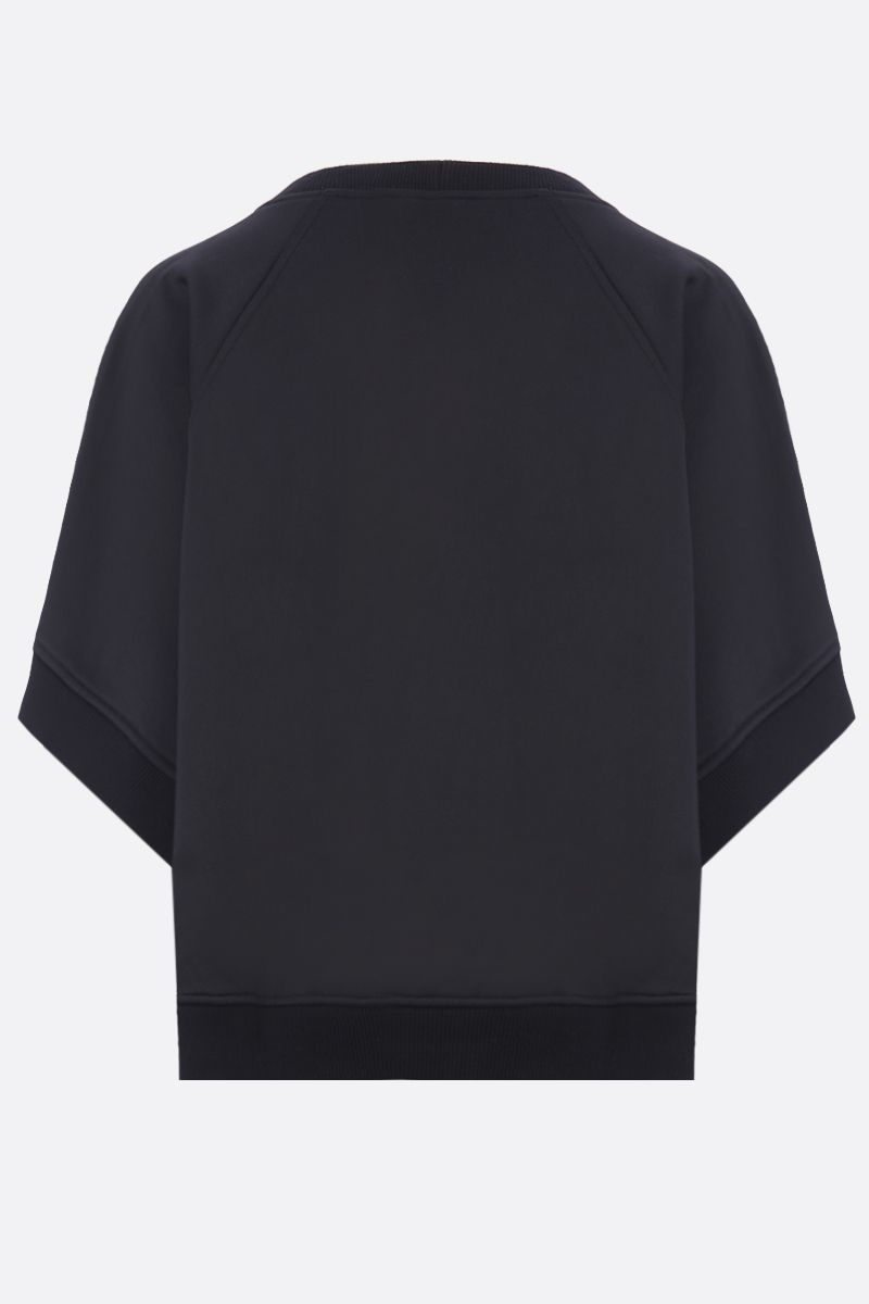 GIVENCHY: logo embroidered jersey oversize sweatshirt Color Black_2