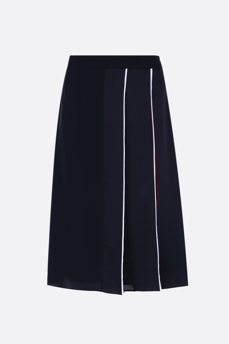 GIVENCHY: crepe envers satin midi skirt Color Multicolor_1