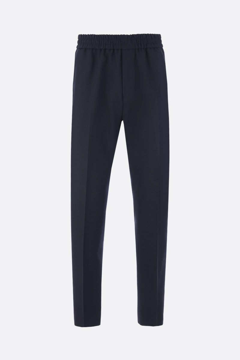 GIVENCHY: pantalone jogging in lana ricamo Givenchy Colore Nero_1