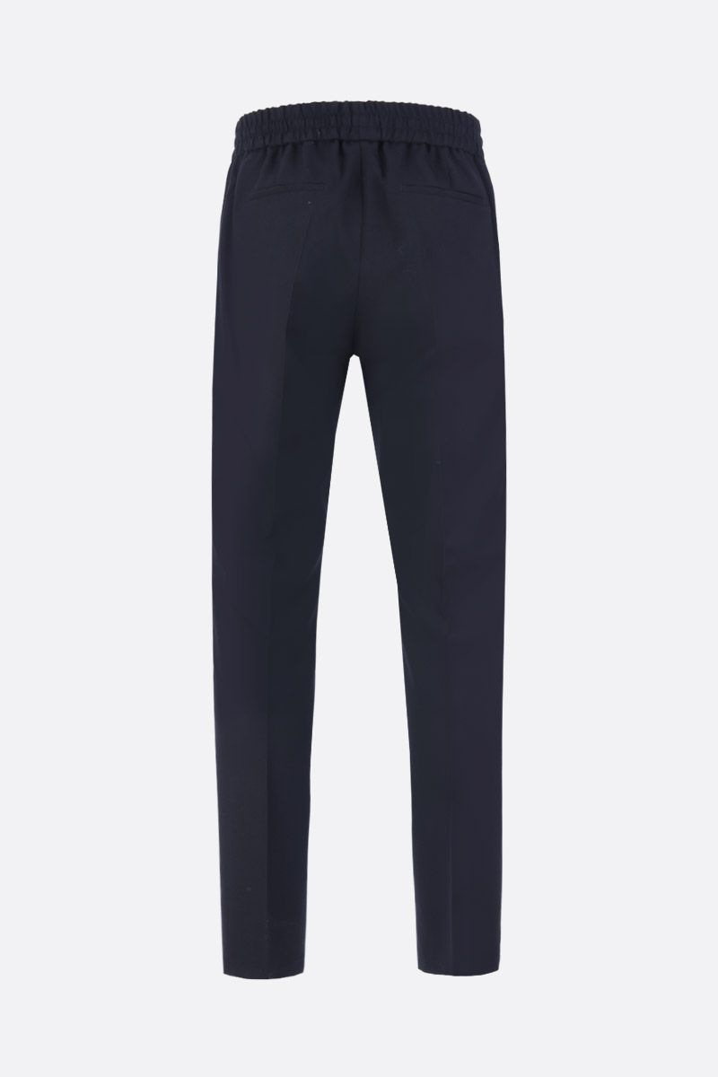 GIVENCHY: pantalone jogging in lana ricamo Givenchy Colore Nero_2