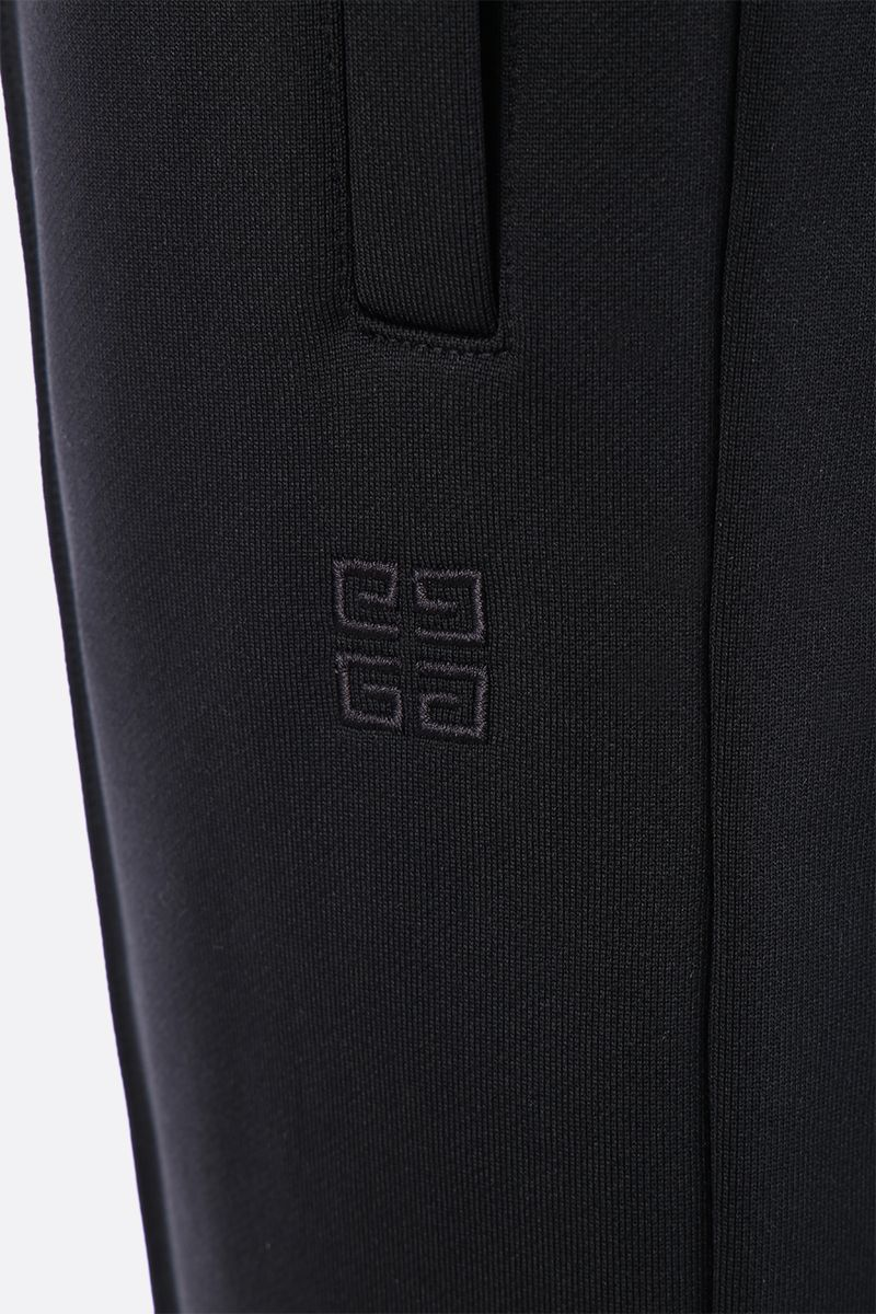 GIVENCHY: 4G embroidered jersey joggers Color Black_3