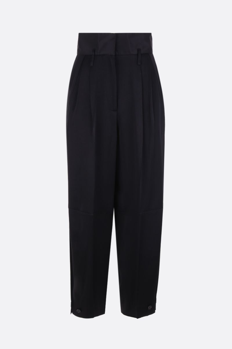 GIVENCHY: high-waisted military pants in crepe envers satin Color Black_1
