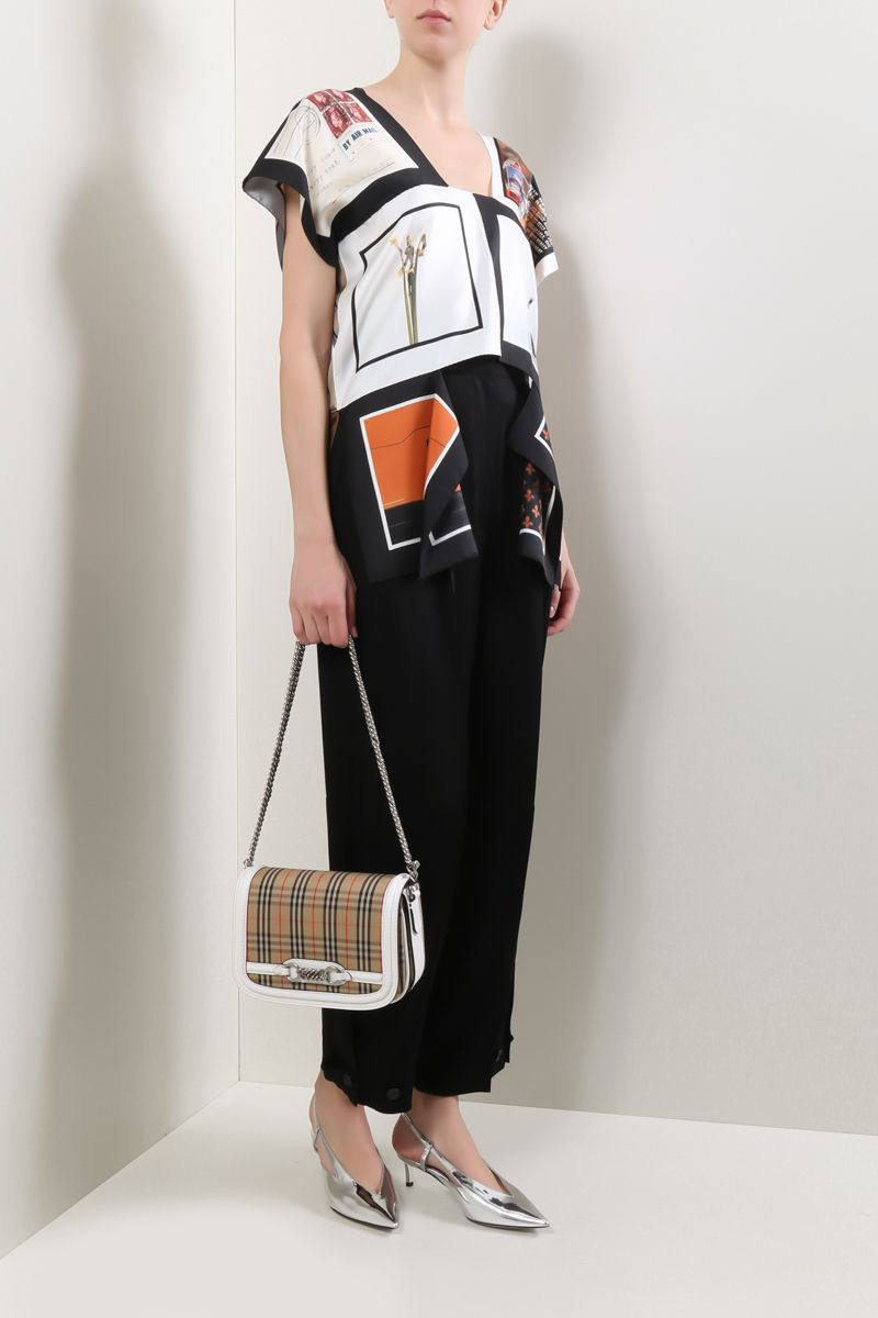 GIVENCHY: high-waisted military pants in crepe envers satin Color Black_2