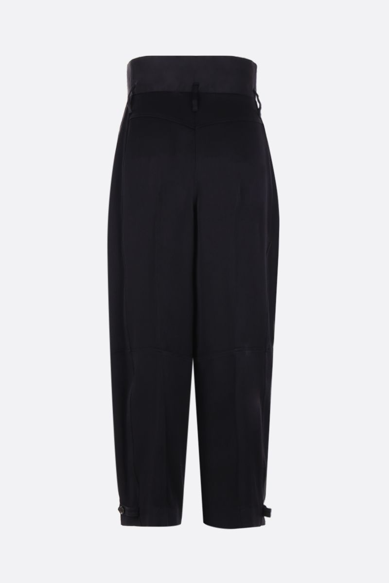 GIVENCHY: high-waisted military pants in crepe envers satin Color Black_3