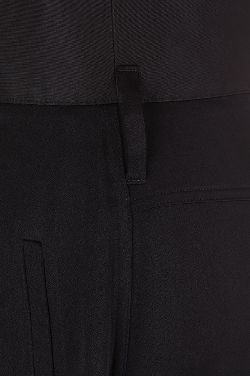 GIVENCHY: high-waisted military pants in crepe envers satin Color Black_4