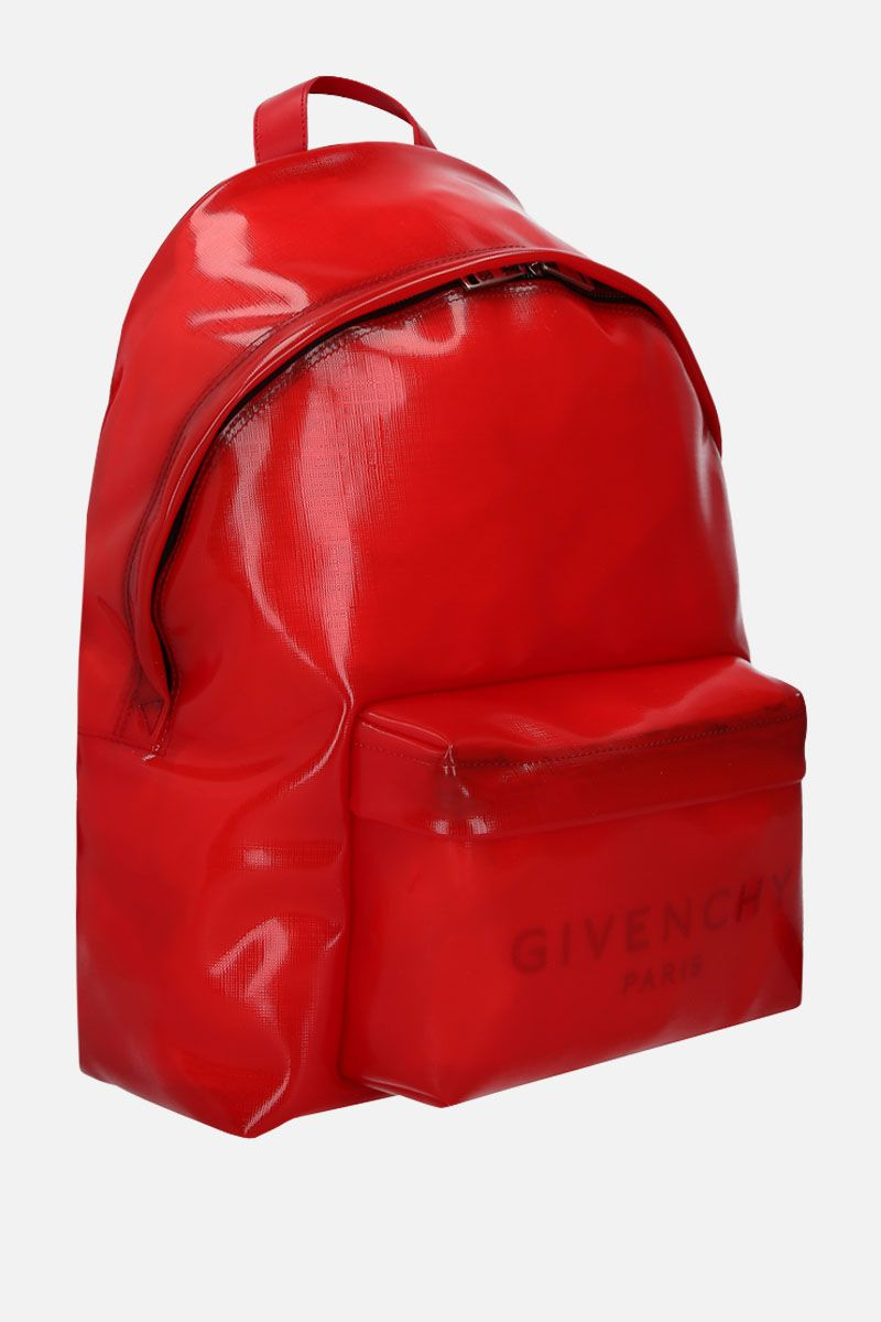 GIVENCHY: logo print PVC Urban backpack Color Red_2