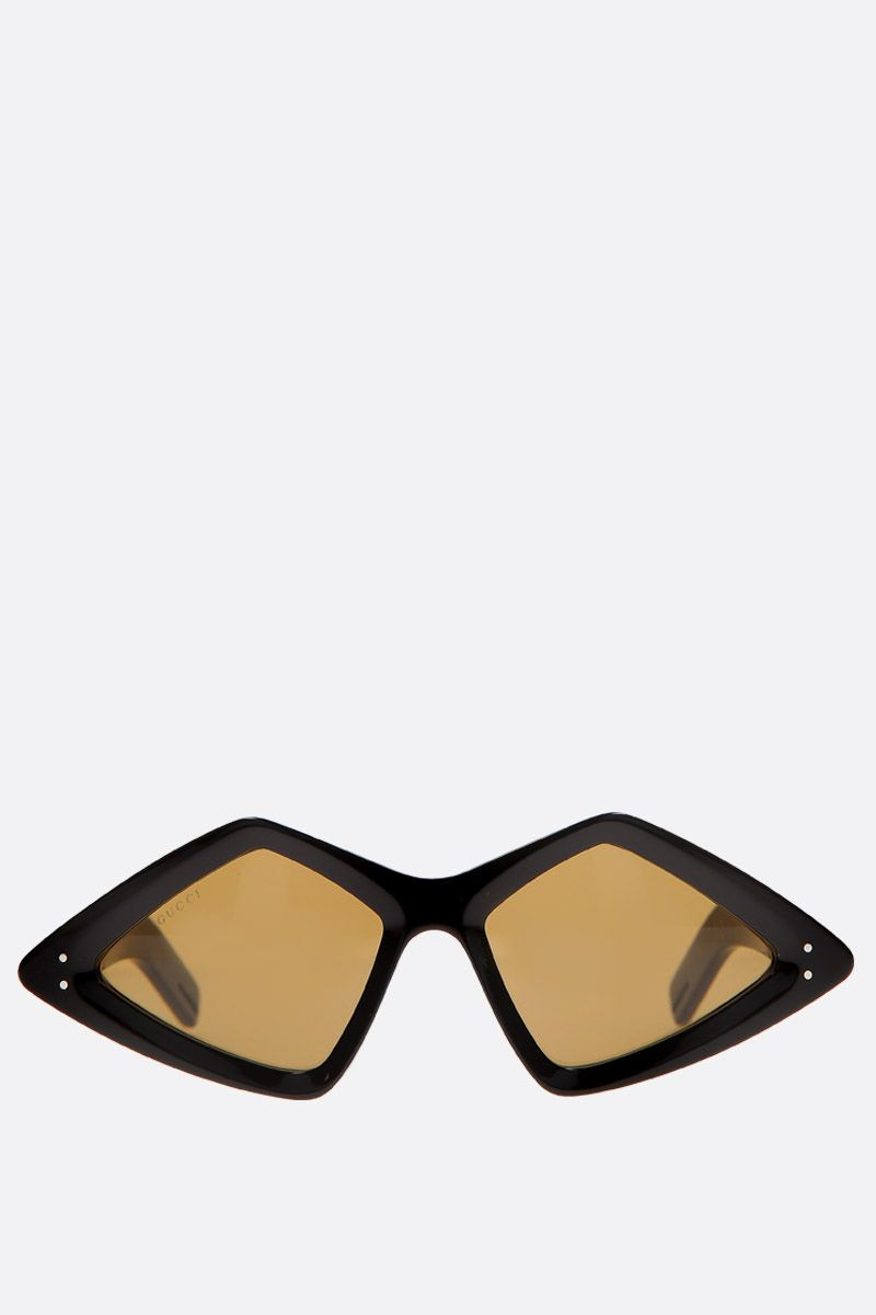 GUCCI: diamond-frame sunglasses in acetate Color Black_1