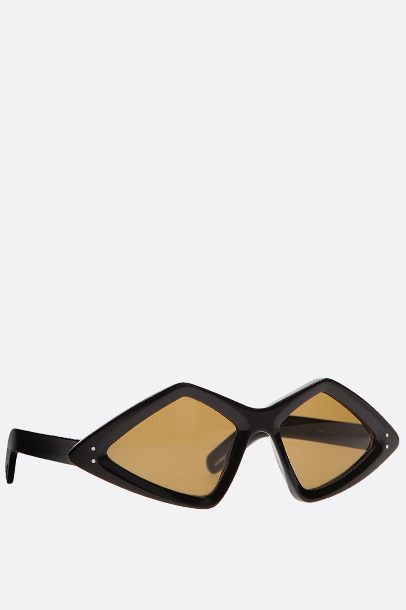 GUCCI: diamond-frame sunglasses in acetate Color Black_2