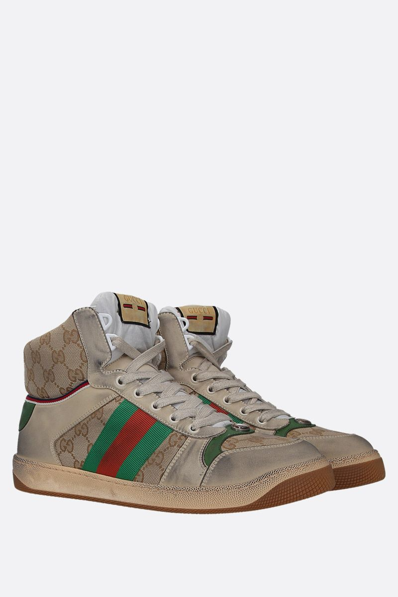GUCCI: Skreener sneakers in GG Supreme canvas and leather Color White_2