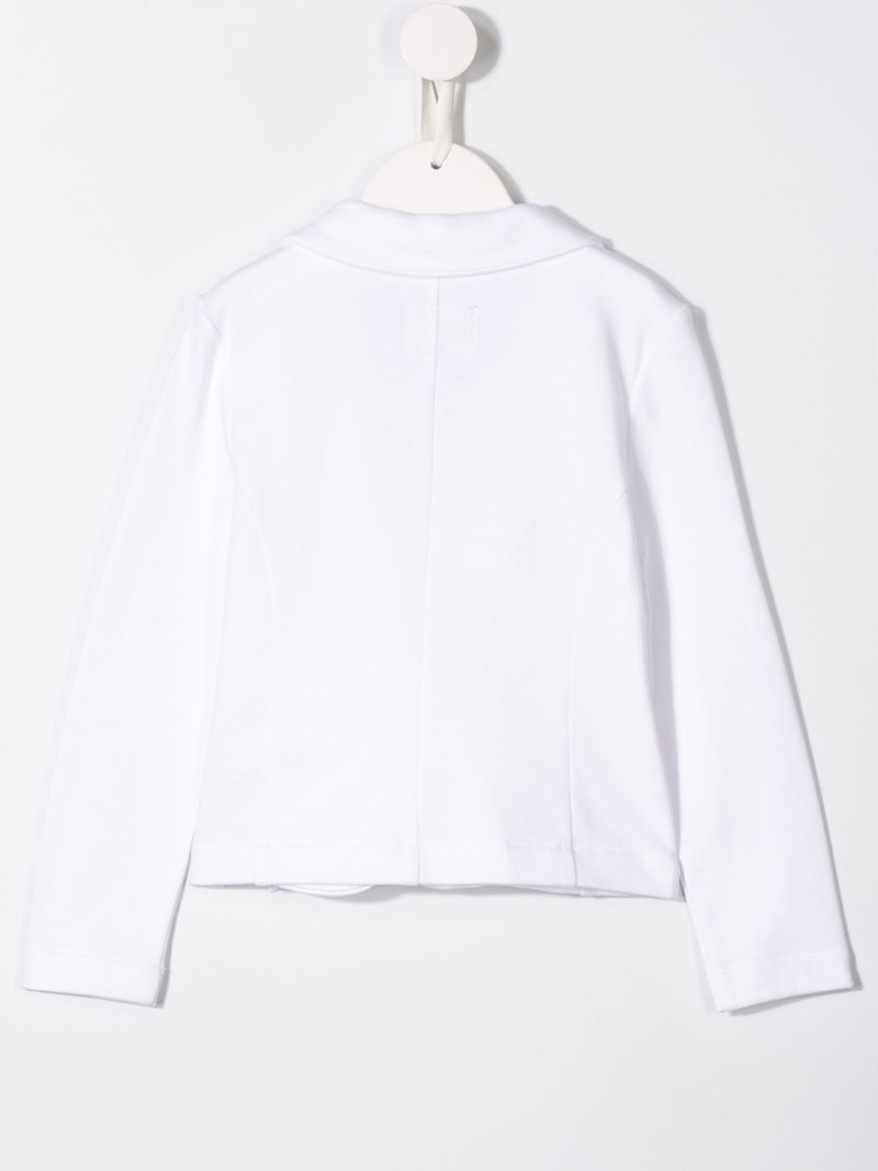 IL GUFO: jersey jacket with bow detail Color White_2