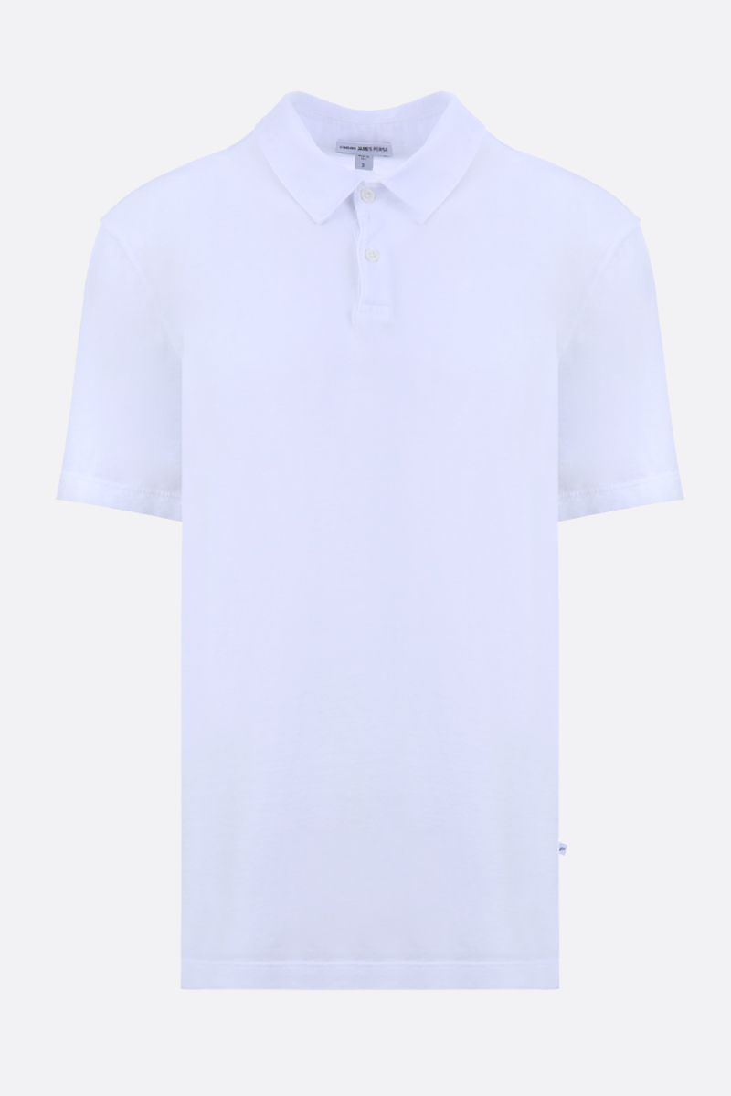 JAMES PERSE: cotton jersey polo shirt Color White_1