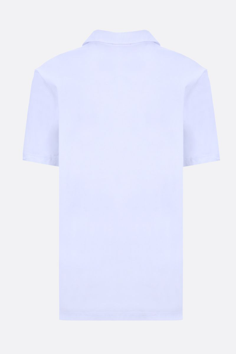 JAMES PERSE: cotton jersey polo shirt Color White_2