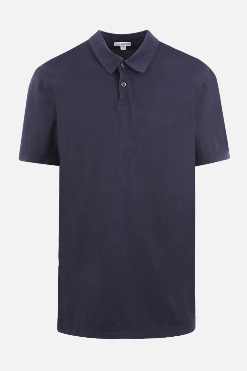 JAMES PERSE: cotton jersey polo shirt Color Blue_1
