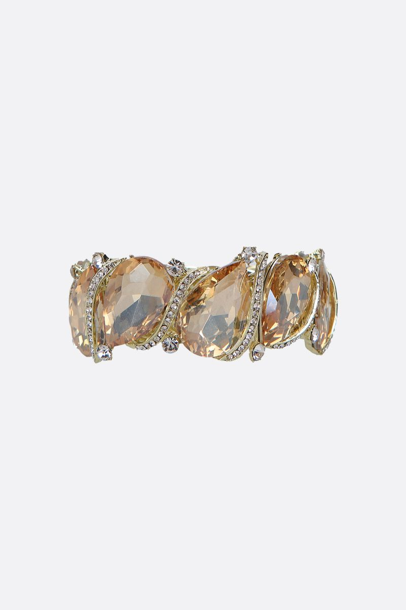 JE T'AIME: brass bracelet with rhinestones embellishment Color Yellow_1