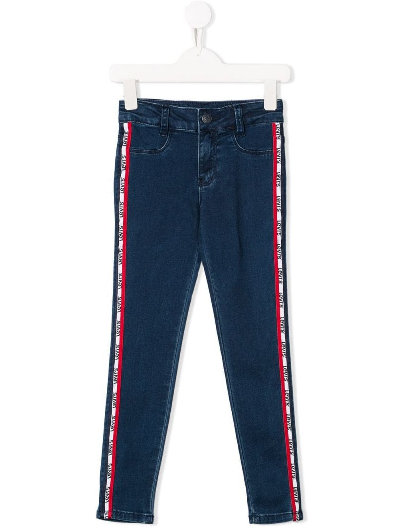 LEVI'S KIDS: 710 skinny-jeans with logoed bands Color Blue_1