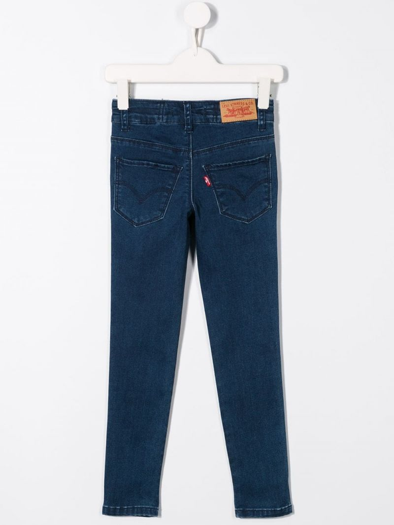 LEVI'S KIDS: 710 skinny-jeans with logoed bands Color Blue_2