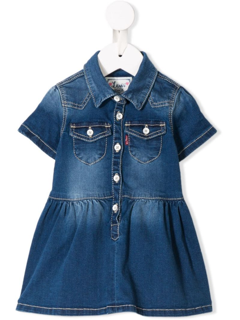LEVI'S KIDS: Denya denim midi dress Color Blue_1