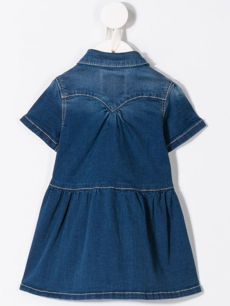 LEVI'S KIDS: Denya denim midi dress Color Blue_2
