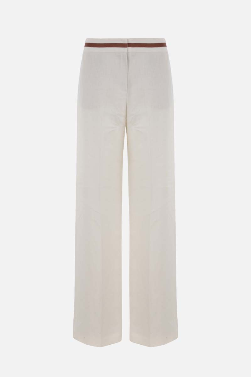 LORO PIANA: Carson Antigua wide-leg linen pants Color White_1