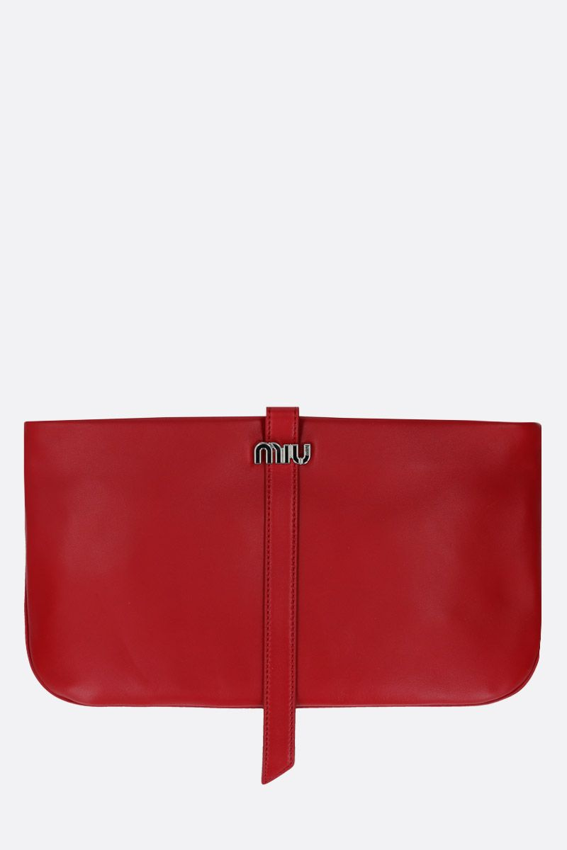 MIU MIU: nappa leather clutch Color Red_1