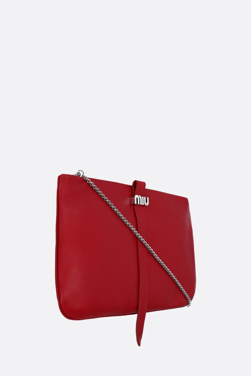 MIU MIU: nappa leather clutch Color Red_2