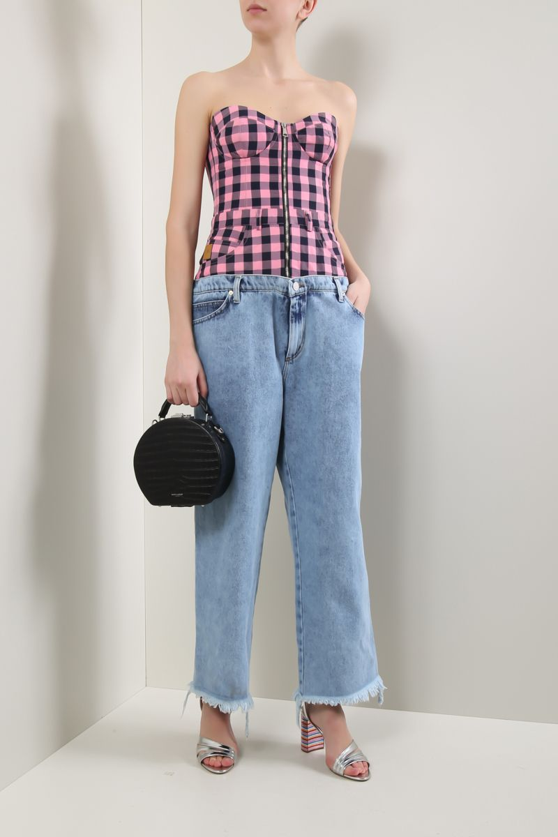 NATASHA ZINKO: bustier top and jeans jumpsuit_2
