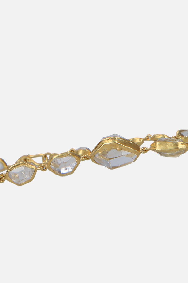PIPPA SMALL: yellow gold and Herkimer diamonds necklace Color Gold_3