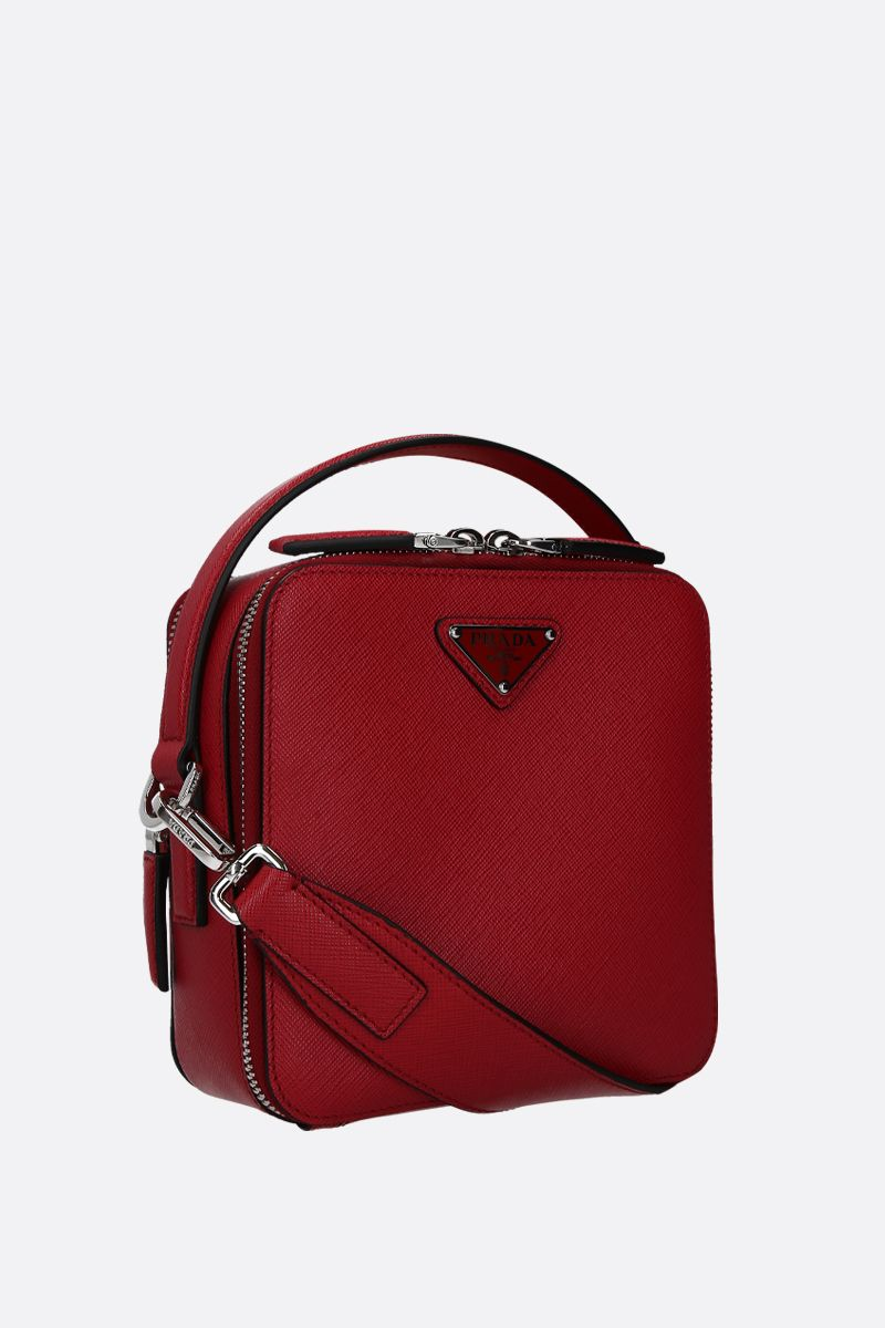 PRADA: Prada Brique crossbody bag in Saffiano leather Color Red_2