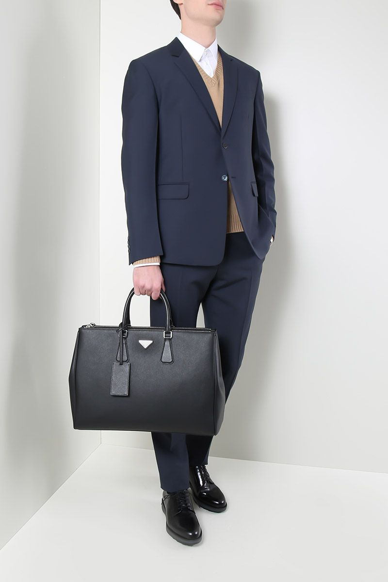 PRADA: wool and mohair two-pieces suit Color Grey_2