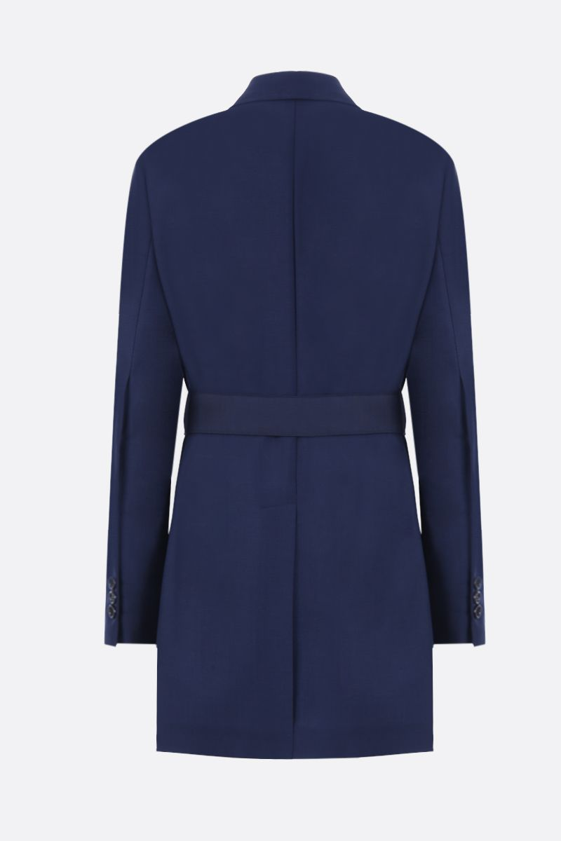 PRADA: mohair and wool double-breasted jacket Color Blue_2