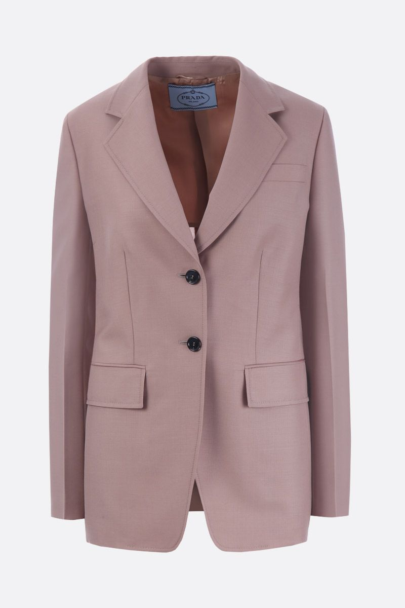 PRADA: mohair and wool single-breasted jacket Color Pink_1