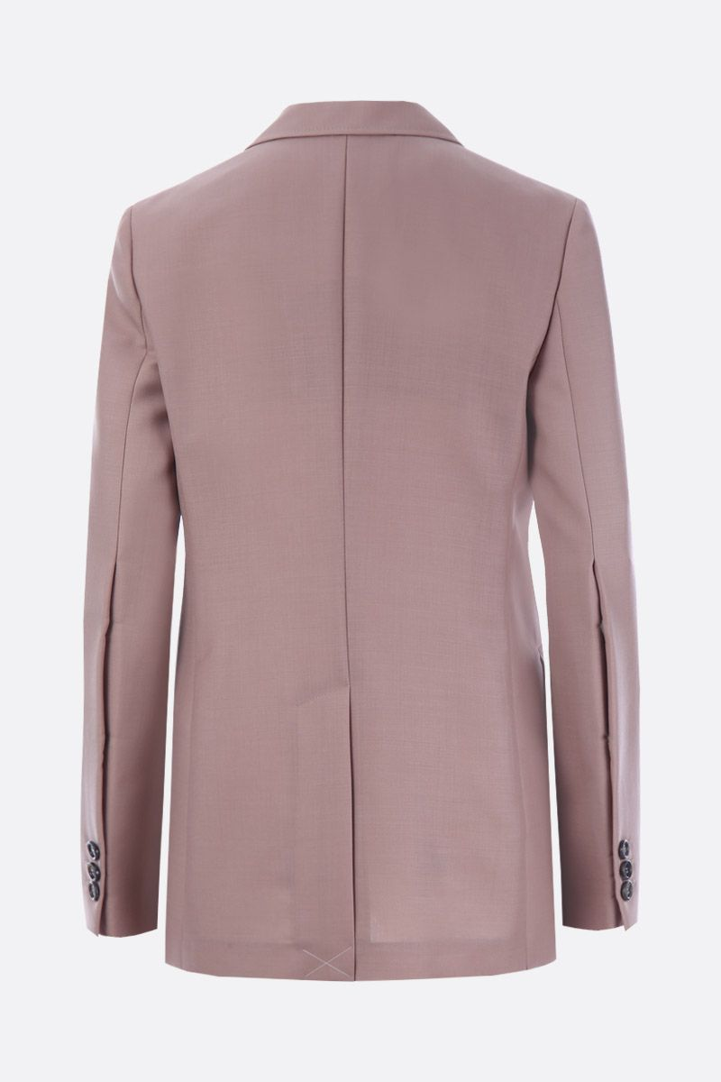 PRADA: mohair and wool single-breasted jacket Color Pink_2