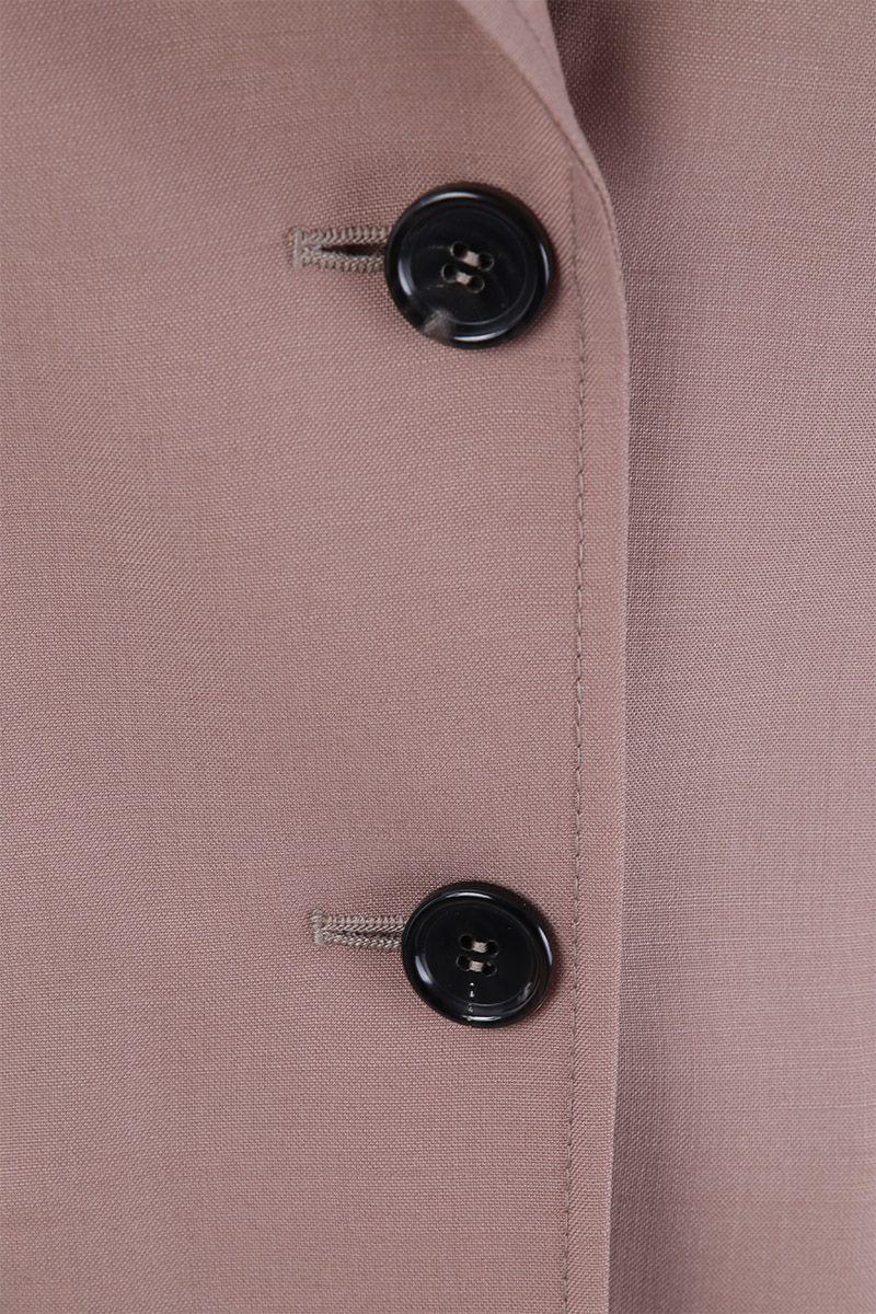 PRADA: mohair and wool single-breasted jacket Color Pink_3