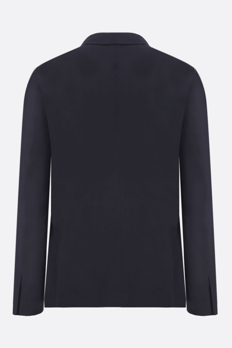 PRADA: technical fabric single-breasted jacket Color Blue_2
