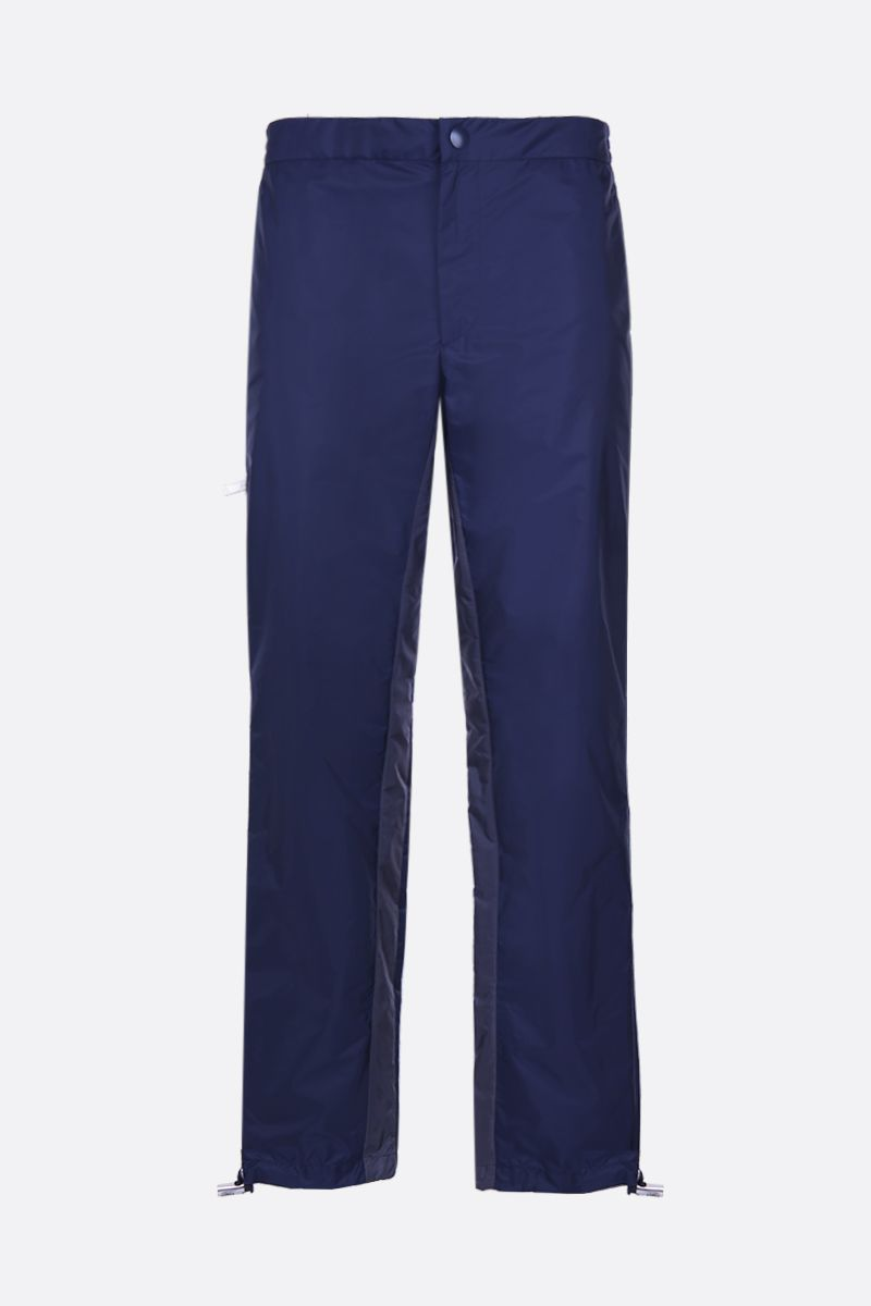 PRADA: technical fabric joggers with contrasting bands Color Blue_1