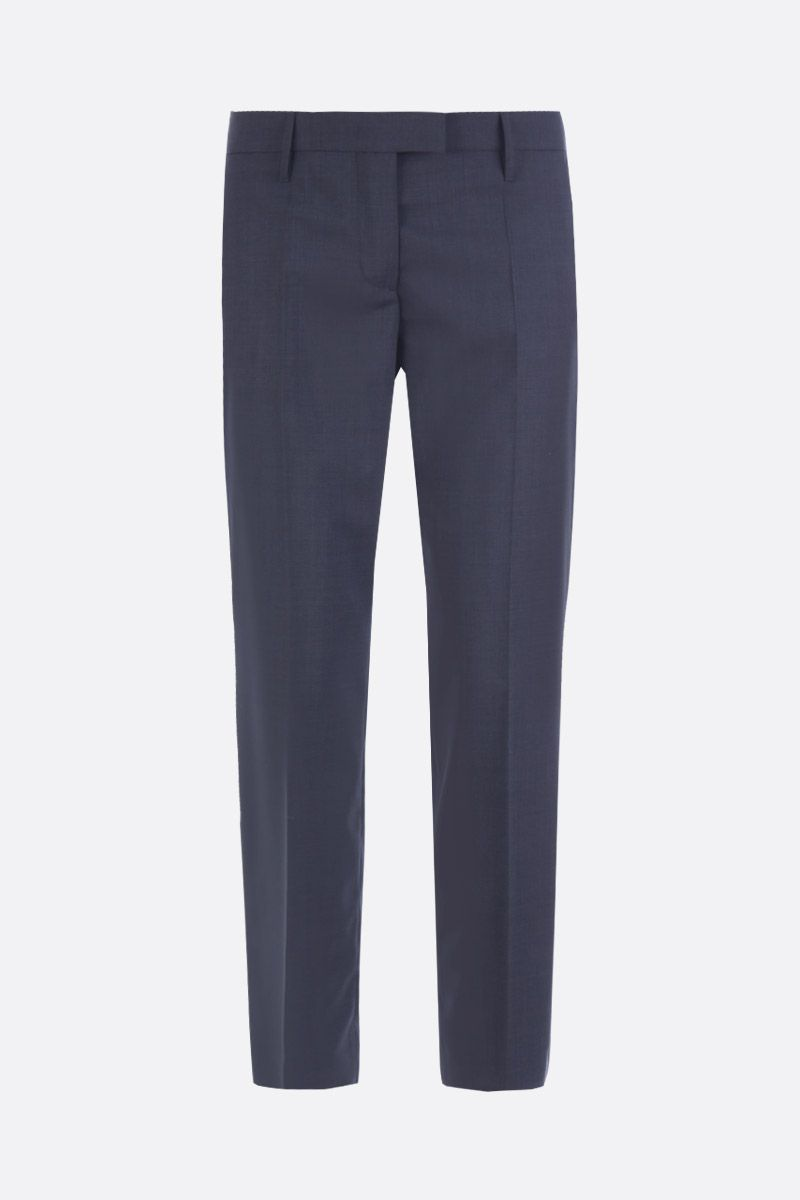 PRADA: lightweight wool cropped pants Color Grey_1