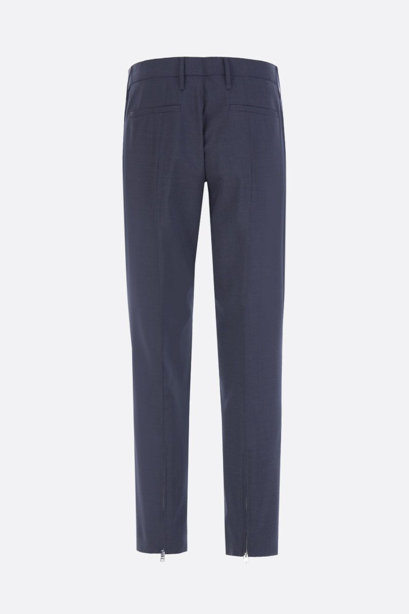 PRADA: lightweight wool cropped pants Color Grey_2