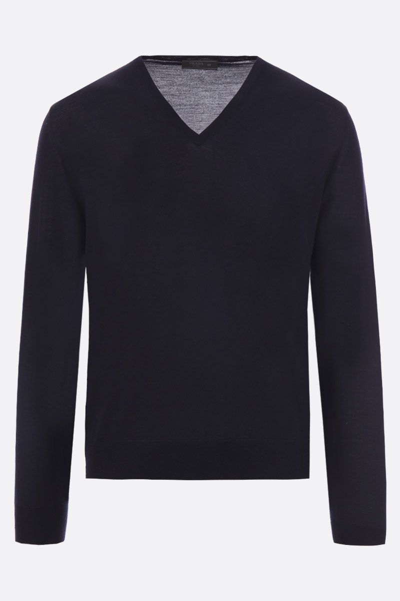 PRADA: combed wool pullover Color Blue_1